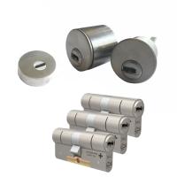 Ombouwset met RVS kerntrekrozet + M&C Condor cilinder (3x) - SKG***