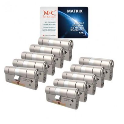 Set van 10 M&C Matrix cilinders SKG***