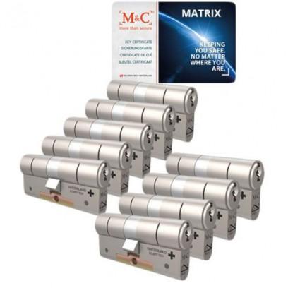 Set van 9 M&C Matrix cilinders SKG***
