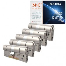 Set van 5 M&C Matrix cilinders SKG***