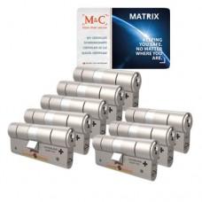 Set van 8 M&C Matrix cilinders SKG***