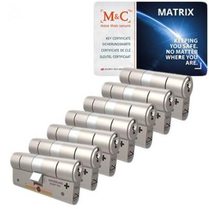 Set van 7 M&C Matrix cilinders SKG***