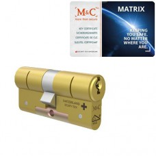 M&C Matrix messing cilinder met kerntrekbeveiliging (1x) – SKG***