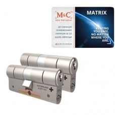 Set van 2 M&C Matrix cilinders SKG***