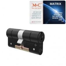 M&C Matrix zwarte cilinder met kerntrekbeveiliging (1x) – SKG***