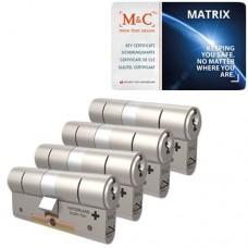 Set van 4 M&C Matrix cilinders SKG***