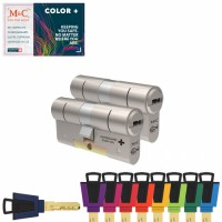 Set van 2 M&C Color+ cilinders SKG***
