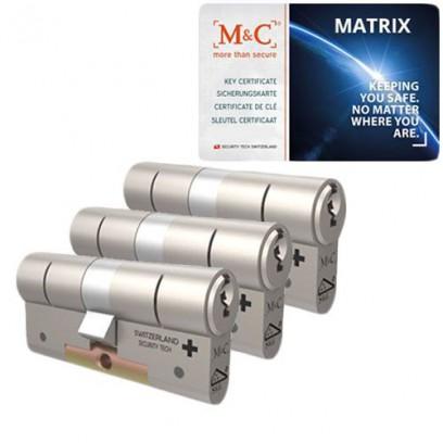 Set van 3 M&C Matrix cilinders SKG***