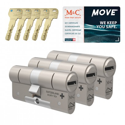 Set van 3 M&C Move cilinders SKG***