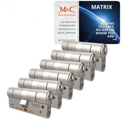 Set van 6 M&C Matrix cilinders SKG***